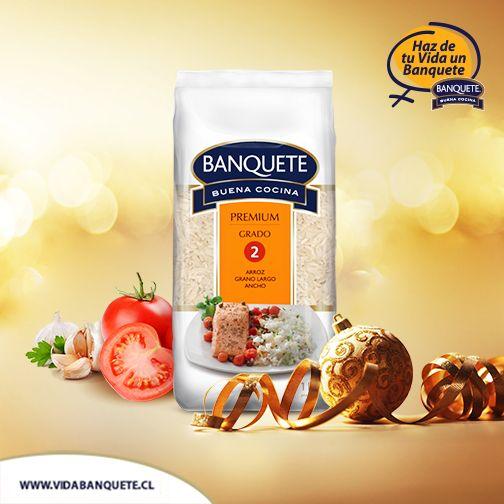 Arroz Banquete Premium Grado 2 - 1 kg. /¡Haz de tu vida un verdadero Banquete! / www.banquete.cl