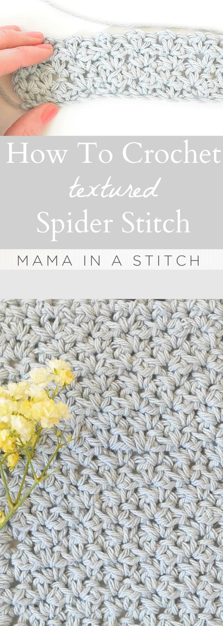 How To Crochet the Spider Stitch via /MamaInAStitch/. This free pattern and tuto…