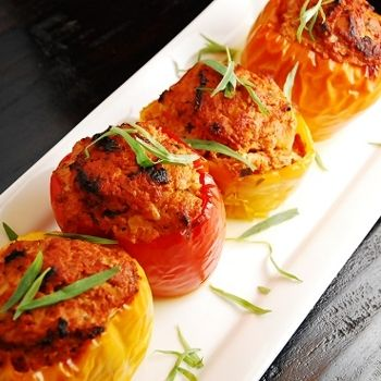 Ground Turkey & Tarragon Stuffed Peppers Recipe - ZipList