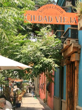 """Ciudad Vieja"". The old city beyond the Ciudadela, Montevideo, Uruguay."