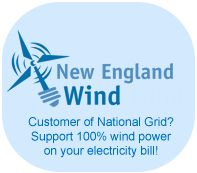 National Grid customers can support local green energy by participating in New England GreenStart provided by MassEnergy. New England GreenStart matches 100% of your electricity usage with renewable energy certificates from local renewable energy sources – low-impact hydro, solar, wind and cow power.