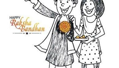 Raksha Bandhan Craft Clipart Sketch Drawing Printable