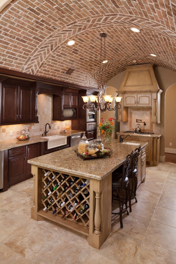Mediterranean Kitchen - barreled ceiling