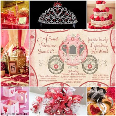 A Sweet Valentine Quinceanera Sweet Fifteen Theme Quince