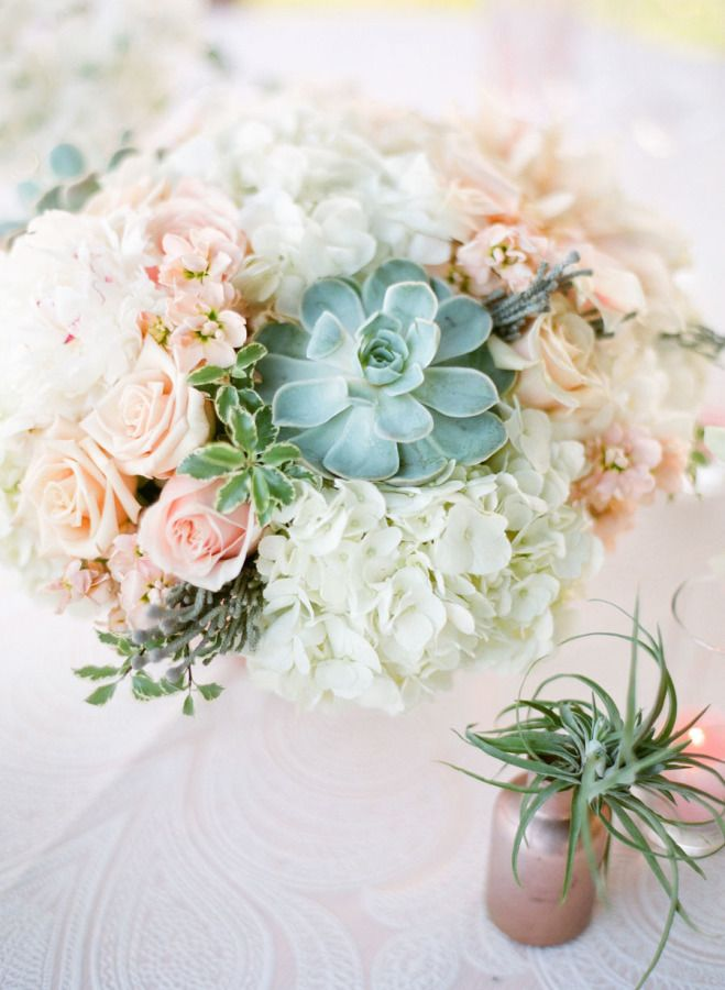 A pop of succulent: http://www.stylemepretty.com/vault/search/images/succulent