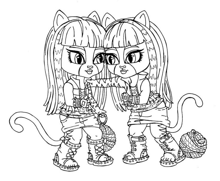 small monster high coloring pages - photo#15