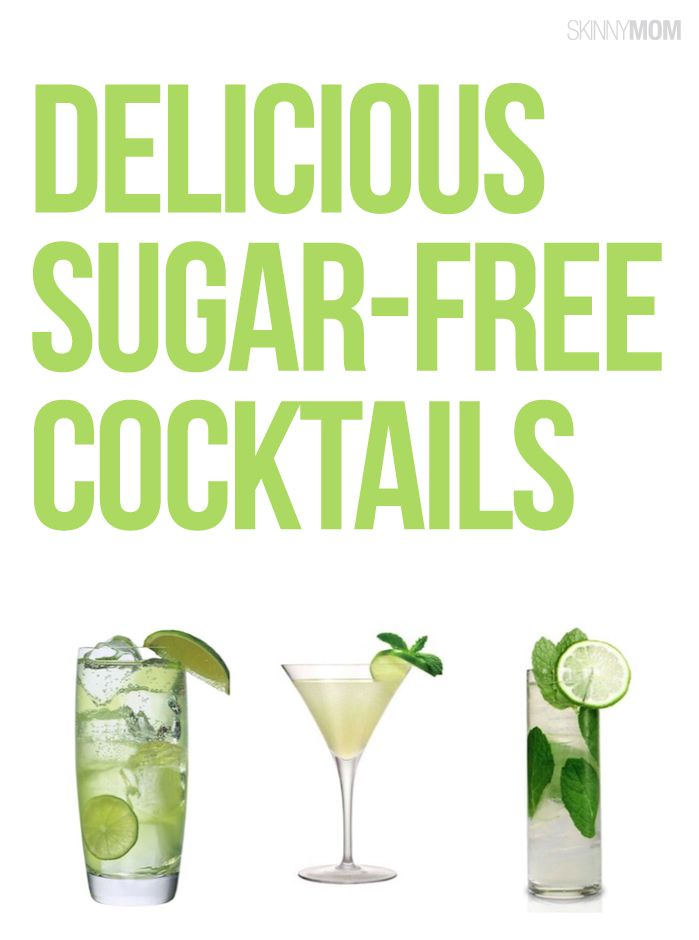 Indulge in these sugar free cocktails without the guilt!
