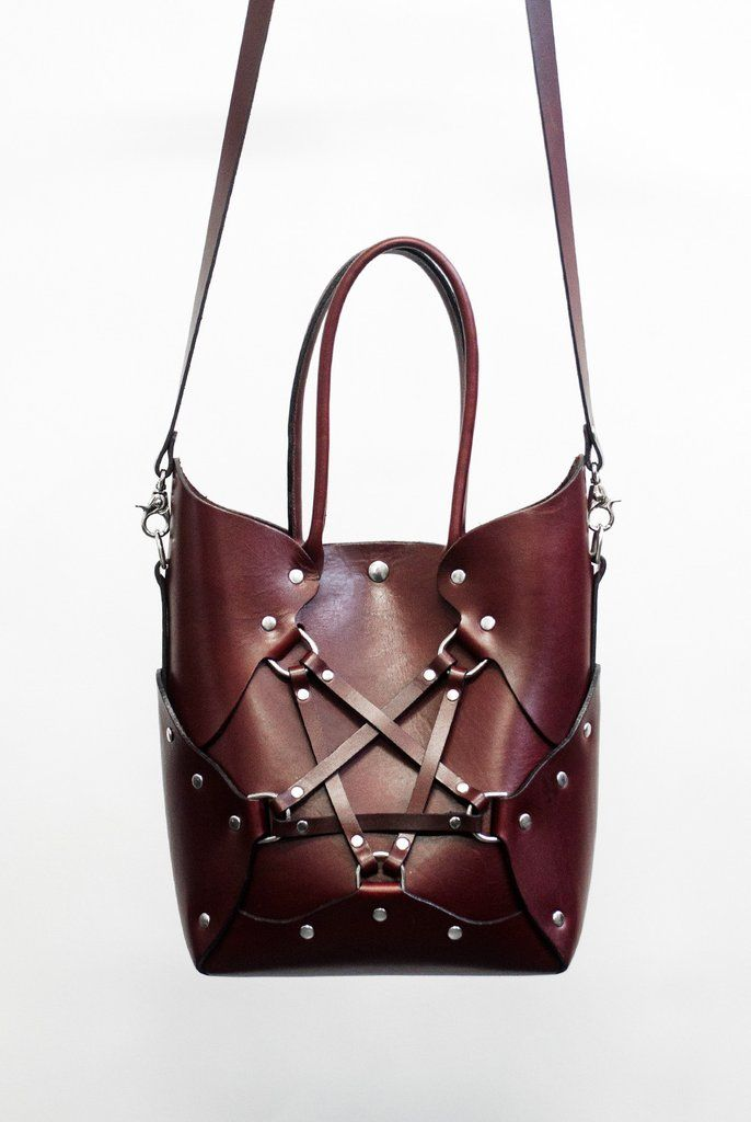 Zana Bayne Pentagram Handbag - Oxblood