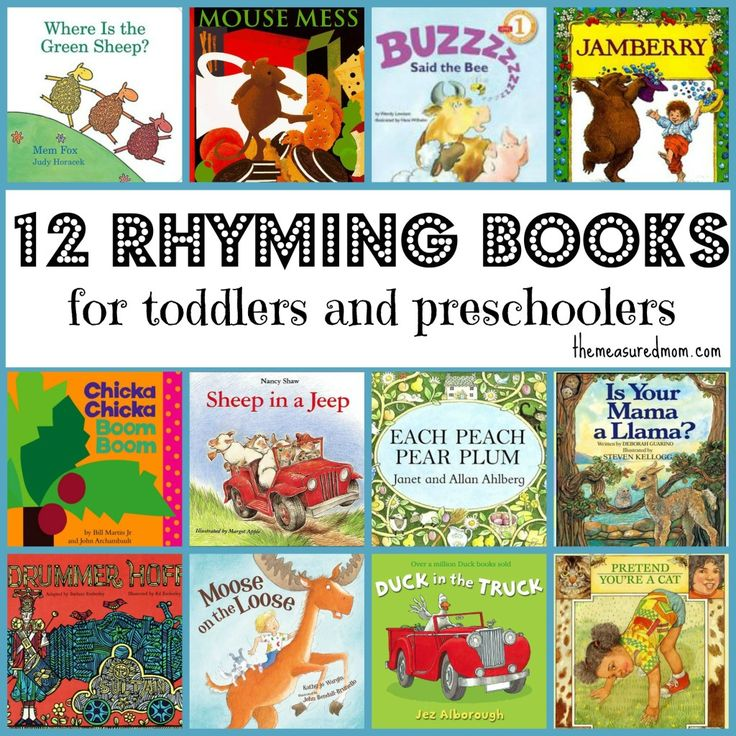 Rhyming Books for Toddlers & Preschoolers - The Measured Mom