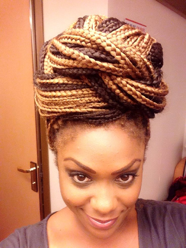 twist styles black hair high bun with a twist box braids hair doll 7564