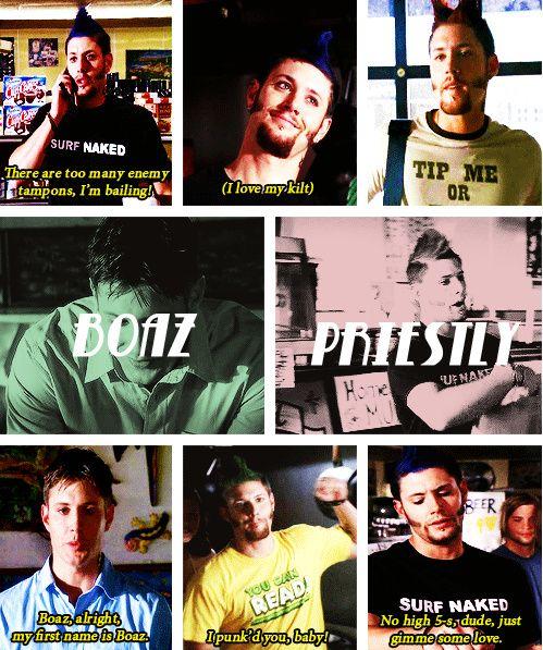 [gifset] Jensen as Boaz Priestly in #TenInchHero #Jensen