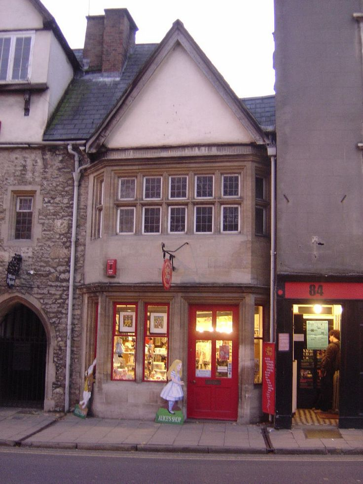 Alice's Shop on St Aldate's, Oxford. It was formerly frequented in Victorian times by Alice Liddell, the inspiration for Alice's Adventures in Wonderland, who used to buy sweets there.
