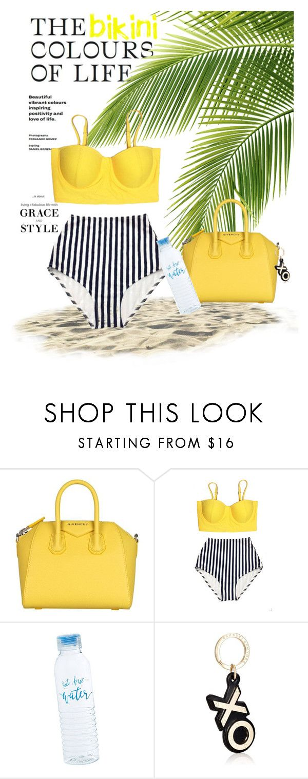 """Yellow bikini ."" by britt-catlynne-weatherall ❤ liked on Polyvore featuring Givenchy and Barneys New York"