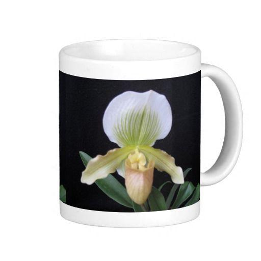 White Slipper Orchid Mug