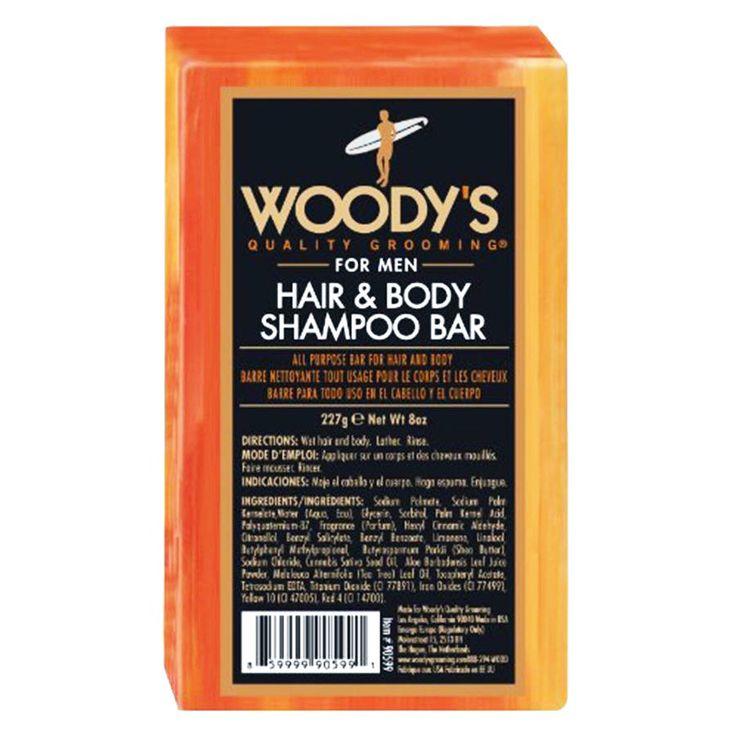 Woody's Hair & Body Shampoo Bar for Men 8 oz All Purpose Soap