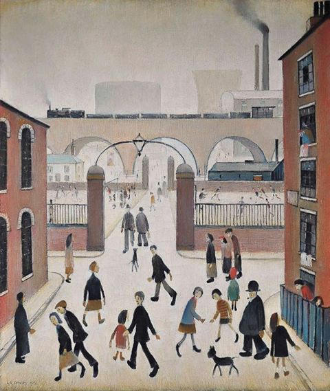 industrial landscape - laurence stephen lowry