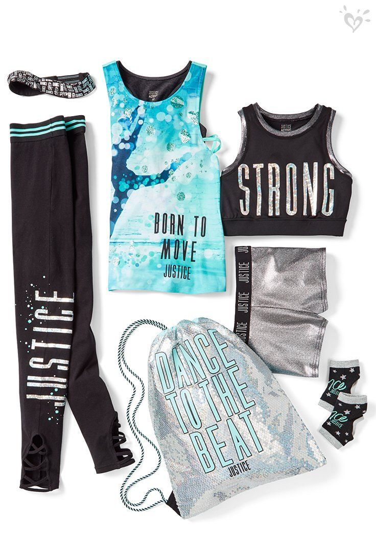 Girls Clothing Dresses Tops Activewear More In 2020 Girls Sports Clothes Justice Clothing Outfits Cheer Outfits