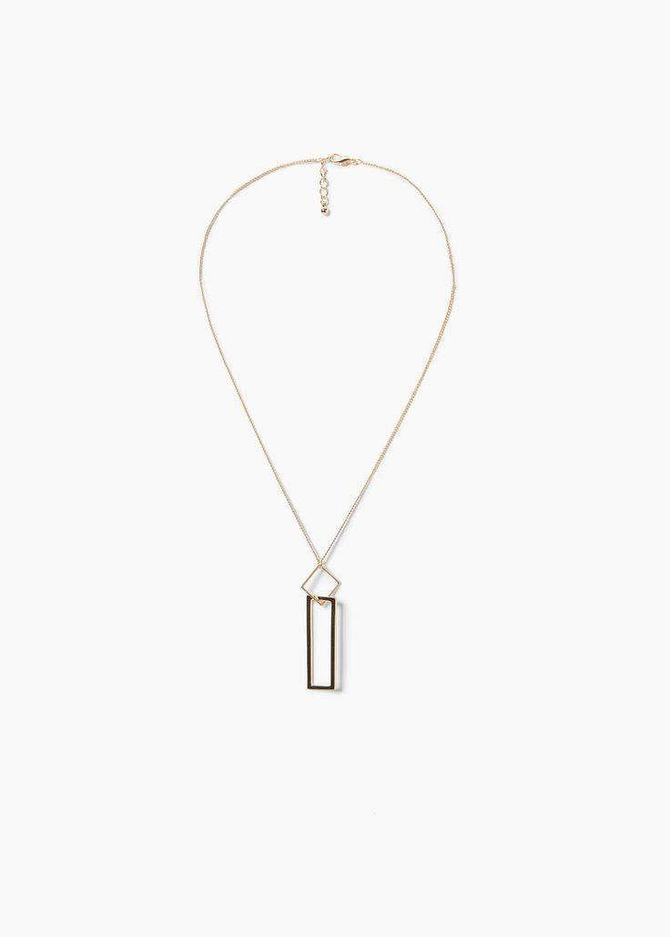 Colar pendente geométrico - Bijutaria de Mulher | MANGO