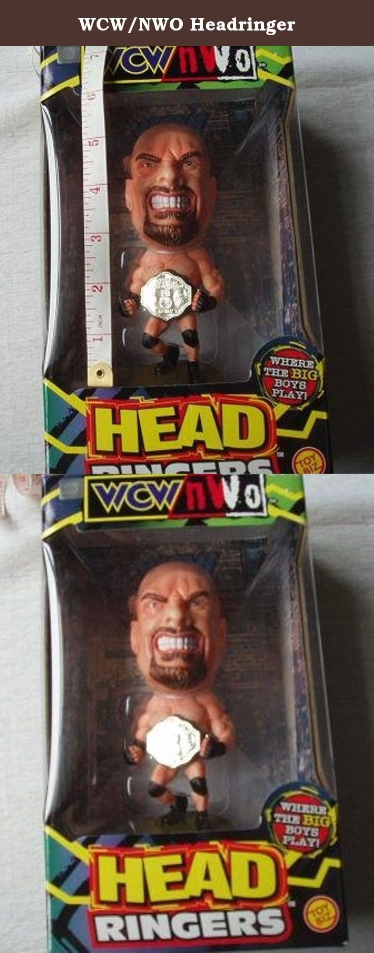 WCW/NWO Headringer. The most popular superstars in WCW/NWO wrestling have been transformed into HEAD RINGERS-stylized cartoon caricatures that perfectly capture each wrestlers distinctive persona. Each wrestler is sculpted in an action pose and comes with a character dedicated accessory. The attractive bases make them easy for you to display them for everyone to see.