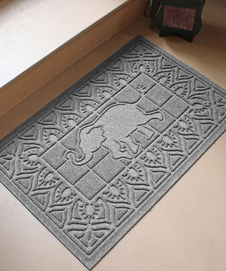 Medium Gray Aqua Shield Siam I Am Elephant Mat