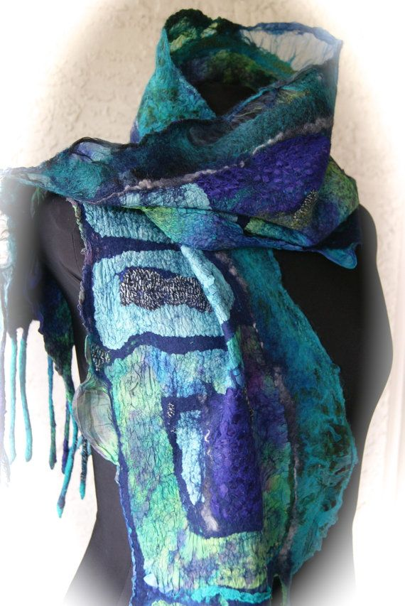 Nuno Felted scarf a SugarPlum Original by J. by sugarplumoriginals, $225.00