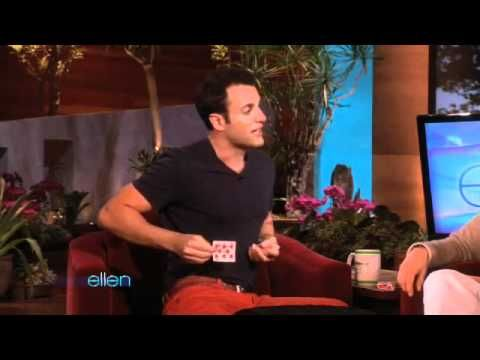 James Galea stacks the deck on Ellen. I know it is old, but his card trick is great, as is his narrative