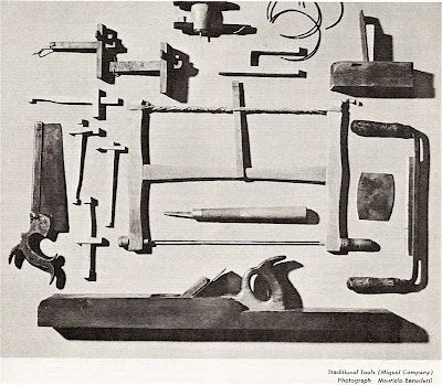 Tools used by a master Spanish Luthier. From Guitar Review no. 28, 1965