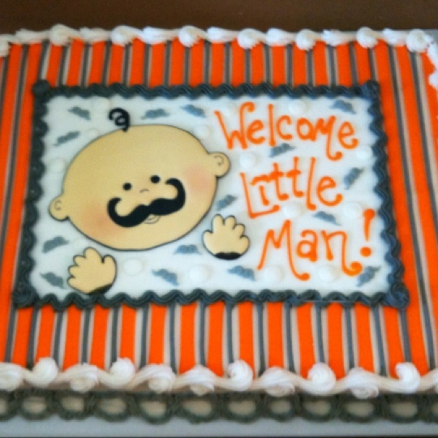 Baby Shower Mustache Theme: 128 Best Images About Baby Shower Cakes On Pinterest