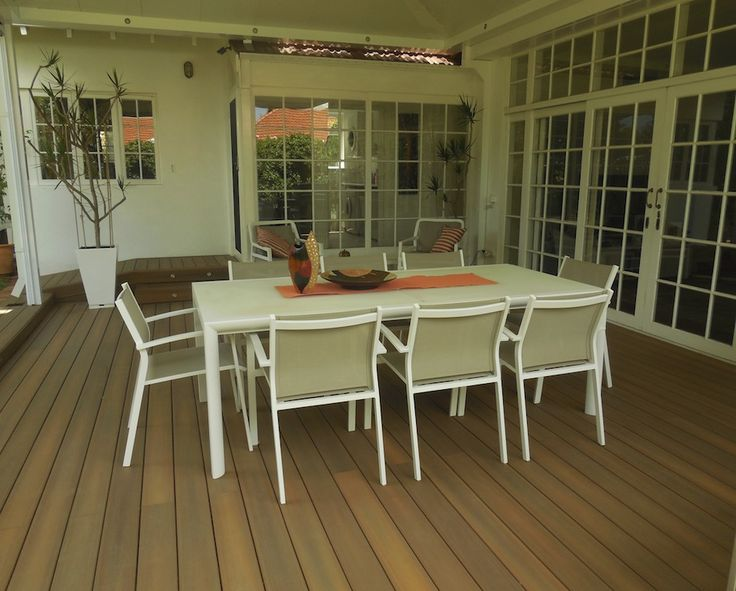 Beautiful NexGen composite decking in Ipe colour by Castlegate Home Improvements Perth