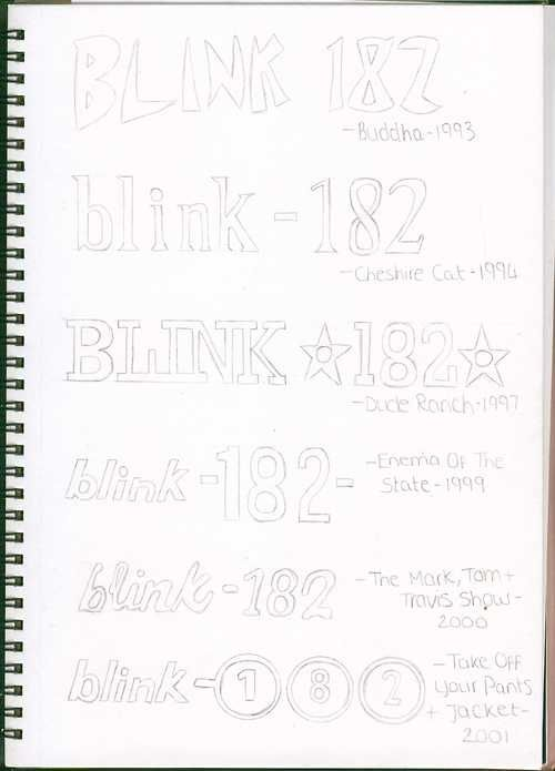 And have memorized the evolution of the Blink-182 logo.   27 Things Only Blink-182 Fans Will Understand