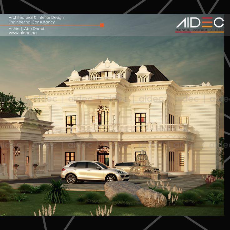 Proposed Classic European Residential Villa Location: Abu Dhabi Concept/Description: Classic European . . . . . . #aidec #architecture #design #alain #abudhabi #classic #european #residentialvilla #villa #uae