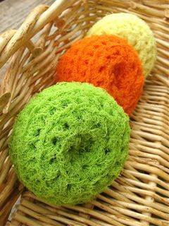 crocheted scrubbies