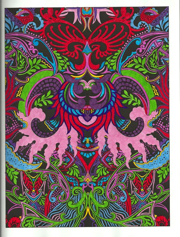 From The Fantastical Designs Coloring Book Colored By Michele Hauf With RoseArt Markers