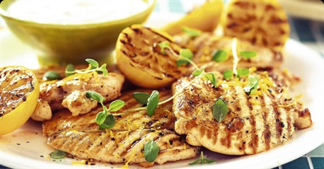 Grilled chicken with a lemon twist