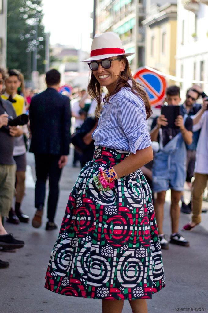 This is so me..... I would definitely rock that look..... viviana volpicella in stella jean at milan fashion week