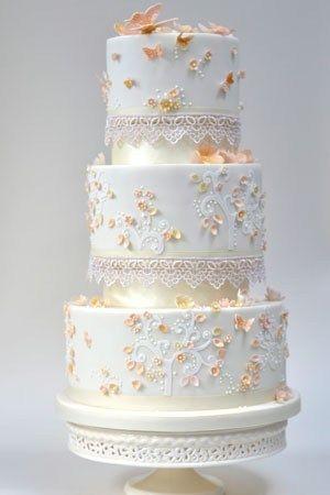 Gold Fairytale Wedding Cake