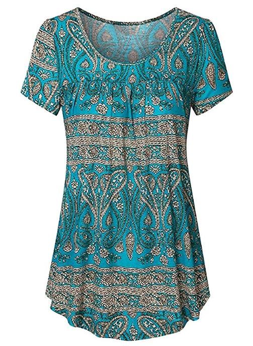 Amazon Women Floral Print Shirt Round Neck Dress For 9 44 W Code
