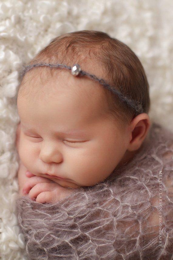 Items similar to <b>Baby Headband</b>, <b>Baby</b> Halo, <b>Newborn Headband in</b> ...