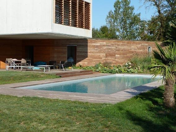 Couleur d 39 eau liner gris clair piscine pinterest - Couleur piscine liner ...