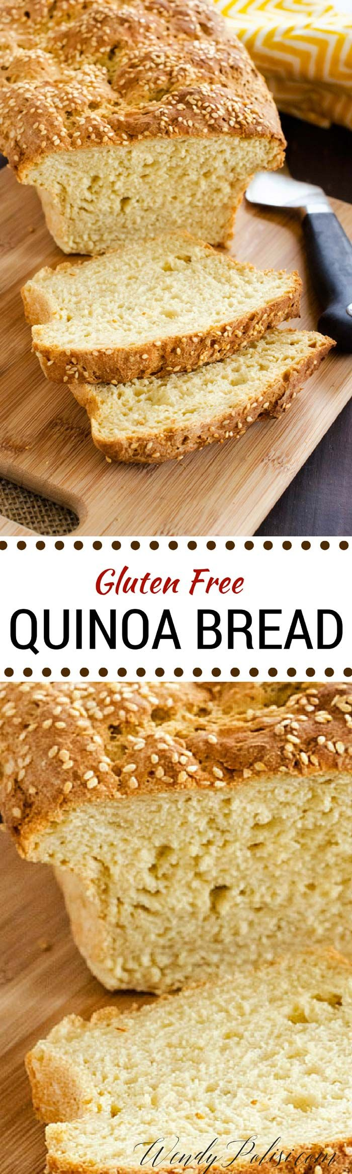 Gluten Free Quinoa Bread via @wendypolisi - vegan if use vegan options listed in recipe