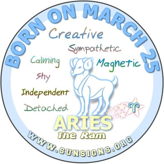 March 25 Birthday Horoscope