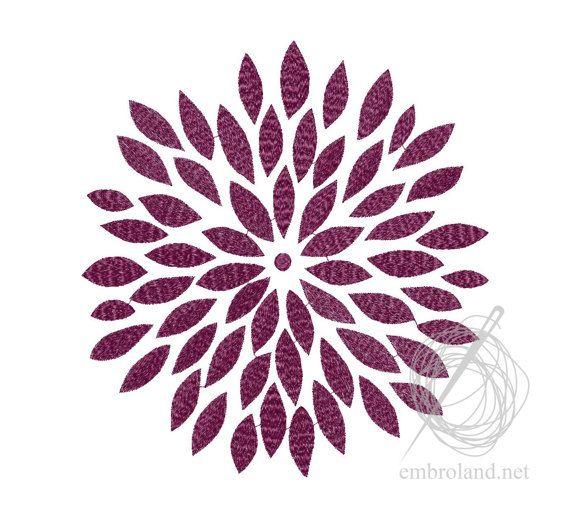 Flower ornament pattern Machine Embroidery Design