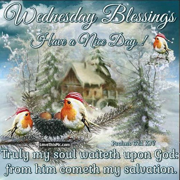 """WEDNESDAY BLESSINGS: Psalm 62:1 (1611 KJV !!!!) """" TRULY MY soul waiteth upon God: from him cometh my salvation.""""  HAVE A NICE DAY !!!!"""