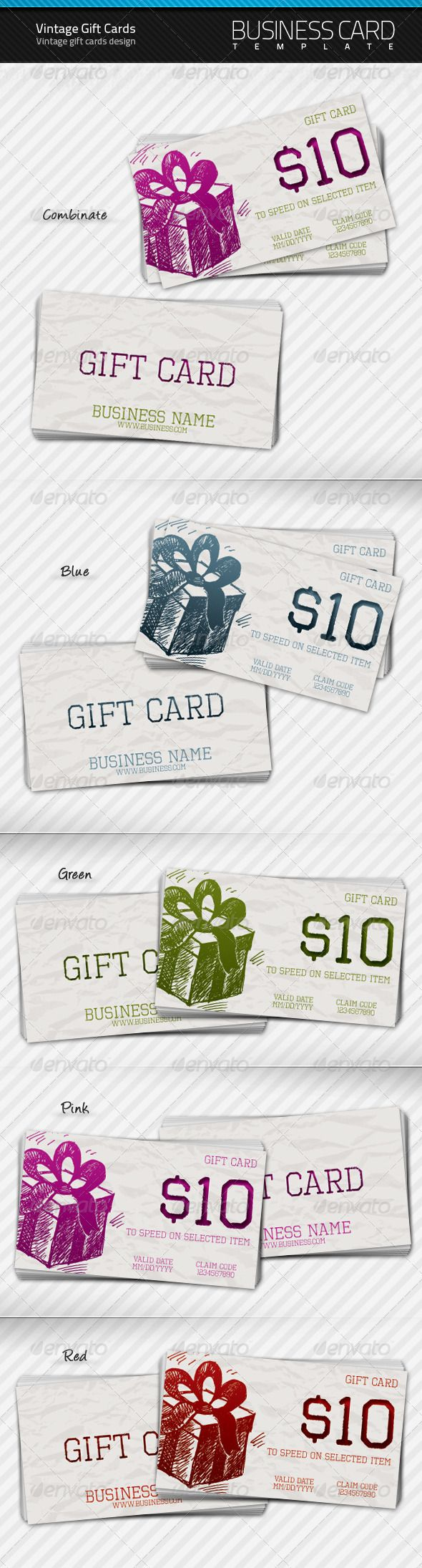 Vintage Gift Cards More Vintage Gifts And Business Cards Ideas