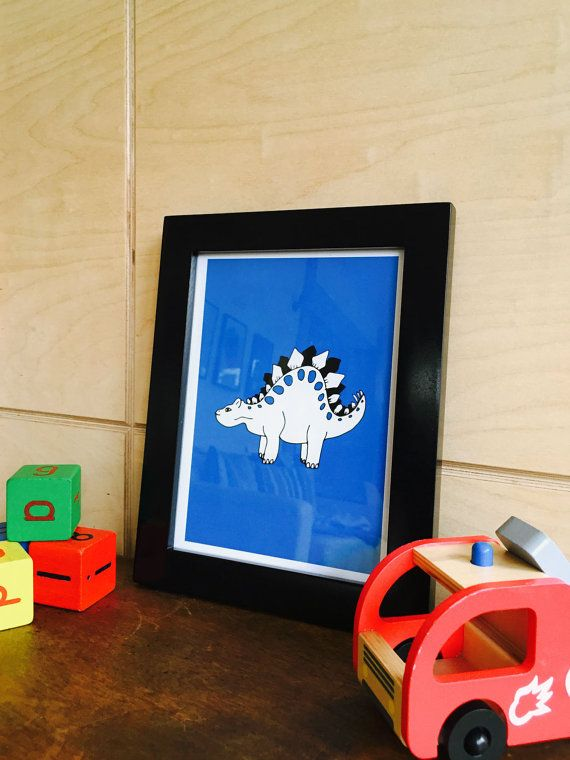 Dinosaur nursery art that I created from my original dinosaur illustration series. Prints are now up on my Etsy shop!