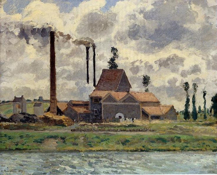 The Factory - Camille Pissarro, 1873. Professional Artist is the foremost business magazine for visual artists. Visit ProfessionalArtistMag.com.- www.professionalartistmag.com