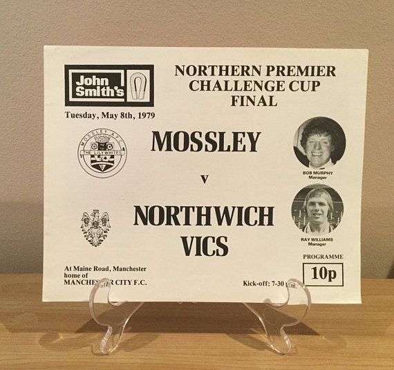 Mossley V Northwich Vics Football Programme 1979