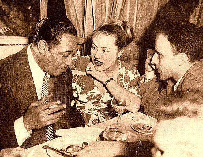 Boris Vian with Duke Ellington and Michelle Léglise-Vian