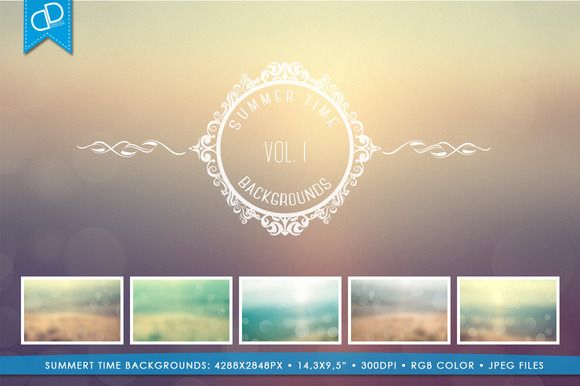 Summer Time Backgrounds Vol I. by cDDesign on @creativemarket