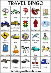 Travel Bingo - great for road trips, even better for travelling with kids!